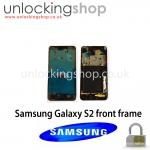 Samsung I9100 Galaxy S2 Front Frame (Black)