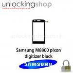 Samsung M8800 Pixon Digitizer (Black)