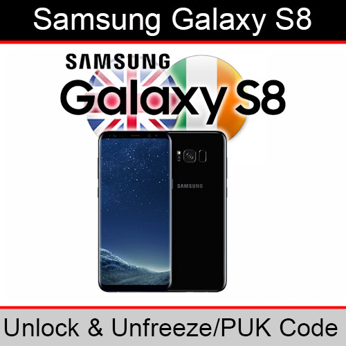 Details about Samsung Galaxy S8 Unlock & PUK Code (ALL UK/Ireland Networks  Supported)